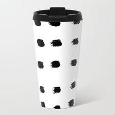 Jacques Pattern - Pure White Travel Mug