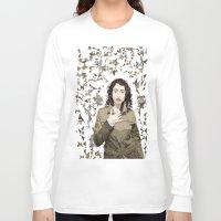 regina mills Long Sleeve T-shirts featuring Regina Spektor by Iany Trisuzzi