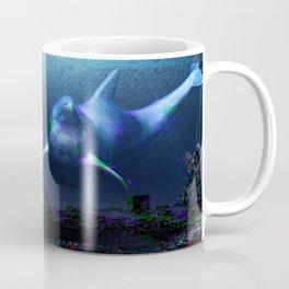 Glitch dolphins and mermaid Coffee Mug