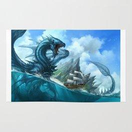 Custom Blue Dragon Rug