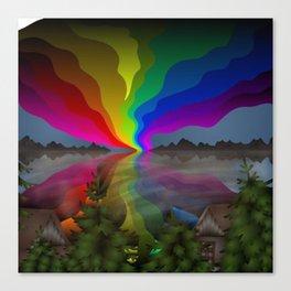 Abstract Rainbow Landscape Canvas Print