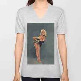 Jayne Mansfield, Hollywood Legend Unisex V-Neck