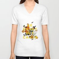 eat V-neck T-shirts featuring Be Dandy Eat Candy by Heather Landis