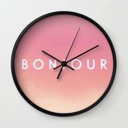 Bonjour II Wall Clock