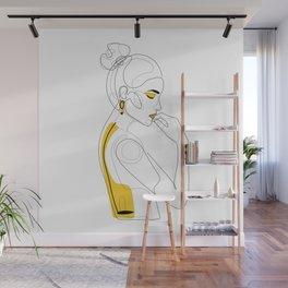 Lemon Girl Wall Mural