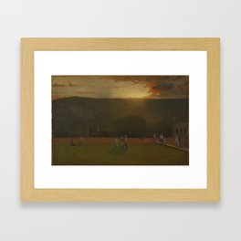 George Inness (American, 1825-1894). The Rigor of the Game, Kearsarge Hall, North Conway, New Hampsh Framed Art Print