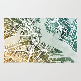 Boston Massachusetts Street Map Rug
