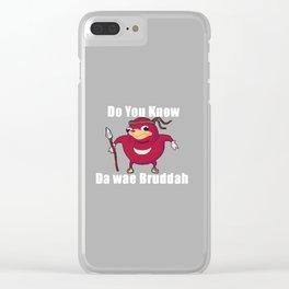 Do You Know Da wae Clear iPhone Case
