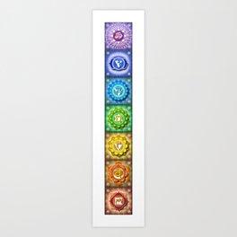The Seven Chakras Banner - Series I Art Print