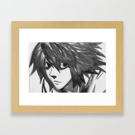L Death Note Framed Art Print