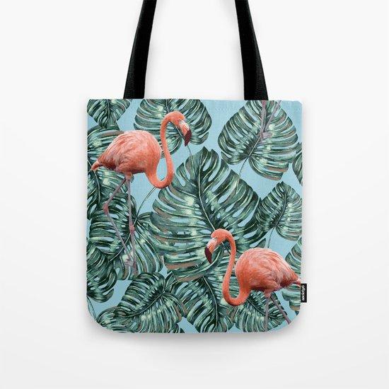 Whimsical Flamingo Pattern #society6 #decor #buyart Tote Bag