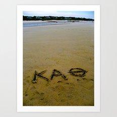Kappa Alpha Theta  Art Print