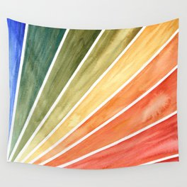 Rainbow Rays Geometric Abstract Wall Tapestry