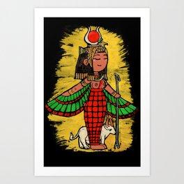 Goddess Hathor Art Print
