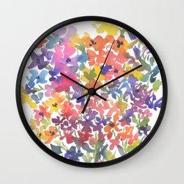 Windy Wildflowers Wall Clock