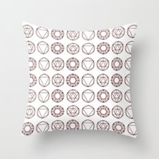 Geometry Shapes Throw Pillow