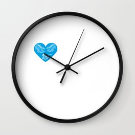 I Heart Ler | Love the god of the sea Wall Clock