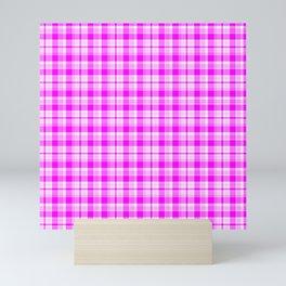 Tartan Pretty Pink Plaid Mini Art Print