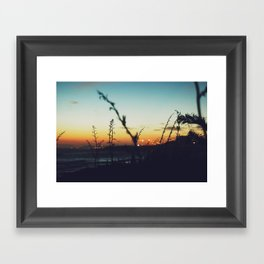 Away from the city Framed Art Print
