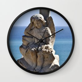 Angel and Cross on the Isle of Sicily Wall Clock