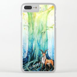 """At the tree's feet"" Clear iPhone Case"