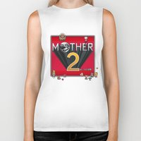 earthbound Biker Tanks featuring Alternative Mother 2 / Earthbound Title Screen by Studio Momo╰༼ ಠ益ಠ ༽