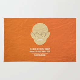 """Mahatma Ghandi - """"An eye for an eye only ends up  making the whole world blind."""" Rug"""