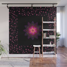 Abstract purple flower 03 Wall Mural