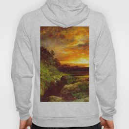 An Arizona Sunset Near The Grand Canyon 1898 By Thomas Moran | Reproduction Hoody