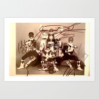 Mighty Morphin Power Rangers Autographs Art Print