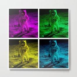 Pop Art Astronaut Metal Print