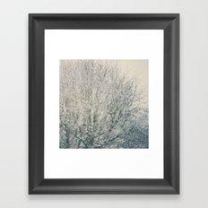 falling snow ...  Framed Art Print