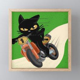 Top rider Framed Mini Art Print