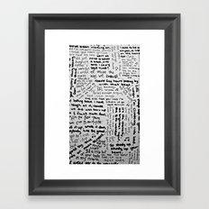 Song Lyrics Framed Art Print