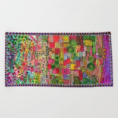 Color Town Beach Towel