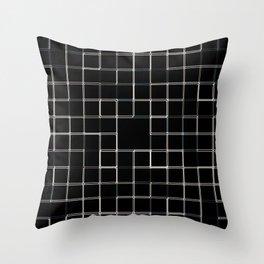 60s SQ Black Throw Pillow