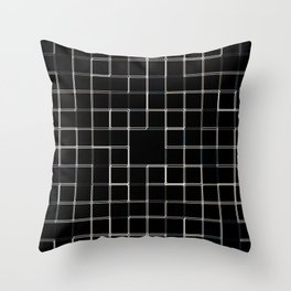 60s SQ Black Throw Pillow