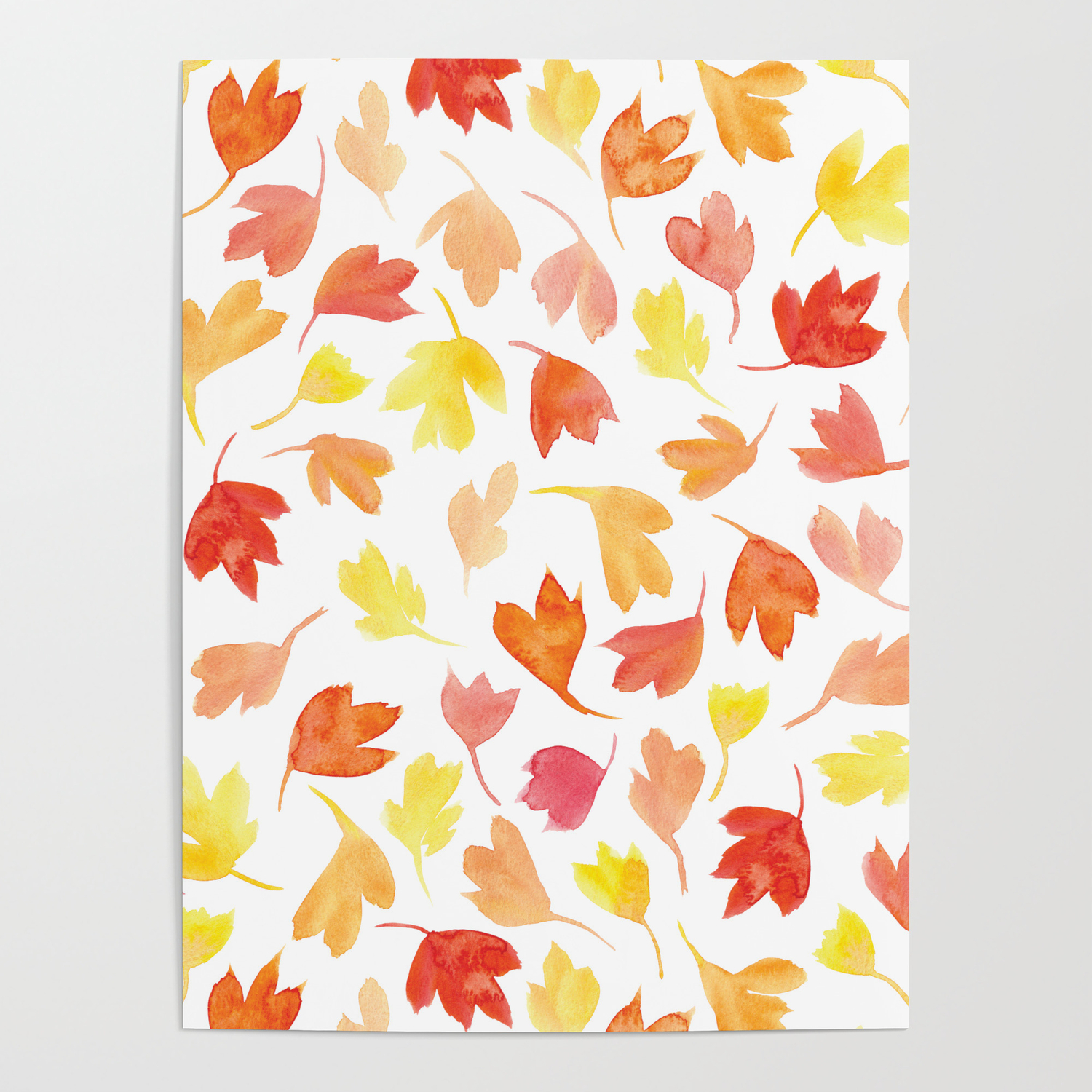 - Fall Leaves Pattern Poster By Lovelettered Society6
