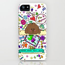JB the Chocolate Poodle iPhone Case