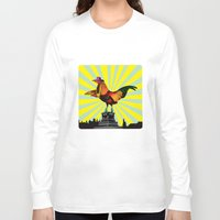 mom Long Sleeve T-shirts featuring Mom by Pierre-Paul Pariseau