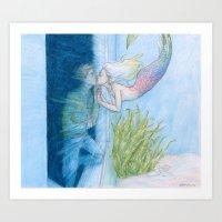burdge Art Prints featuring Skinny Love by Burdge
