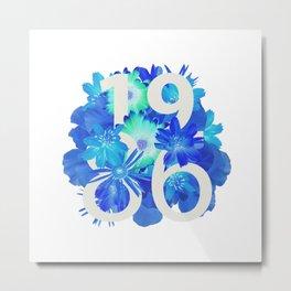 Blue Flower 1986 Metal Print