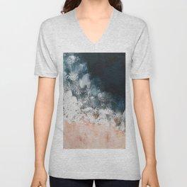 Aerial ocean, coast,  beach, waves, sea, prints, project Unisex V-Neck