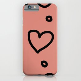 Hearty Wallpaper iPhone Case