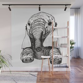 Baby Elephant Wall Mural
