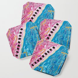 Abstract Art - Demarcation Line Coaster