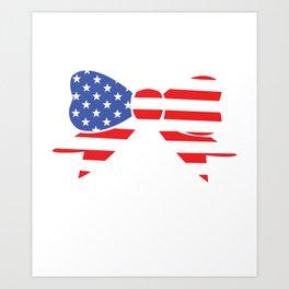 America Bow Graphic Patriotic 'Merica T-shirt Art Print