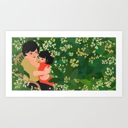 """I Dream of Popo - """"I tell Popo about my adventures"""" Art Print"""