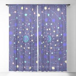 Blue Ray Star Mandala Sheer Curtain