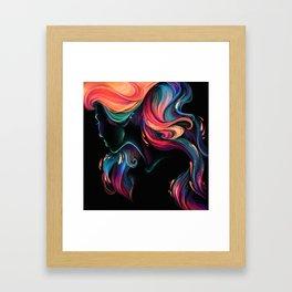 Deep Sea Neon Framed Art Print